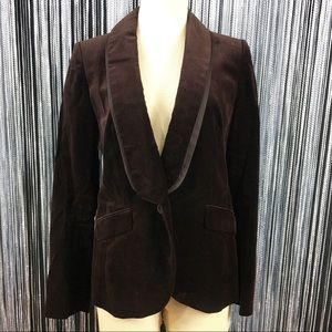 Ann Taylor Loft Brown Velvet Blazer Jacket 4
